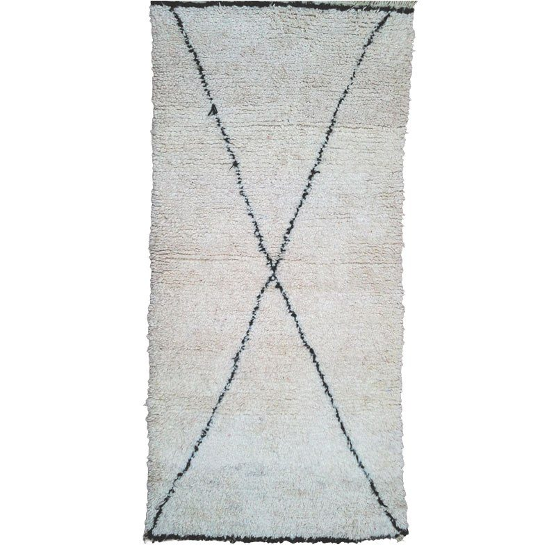 Beni Ouarain wool rug at craftic.net