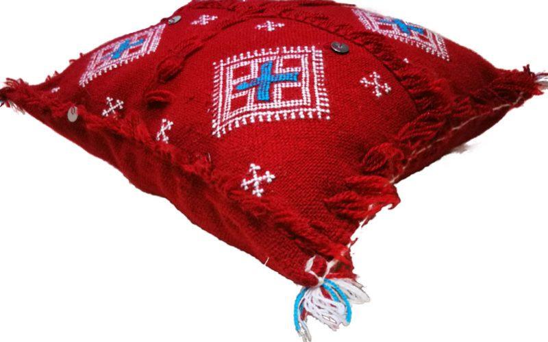 Pair Of Berber Red Cushions 14″x13″