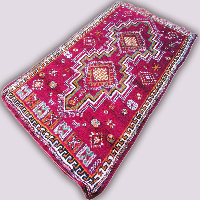 Vintage Tribal Art Azilal Rug at craftic.net