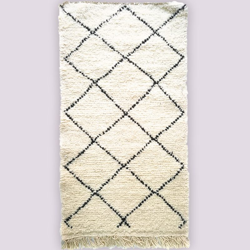 Small Beni Ouarain Berber Rug at Craftic.net 1
