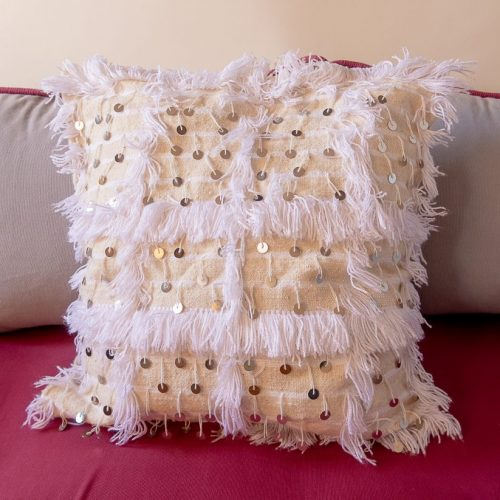 White Handira Pillow 20×20 inch