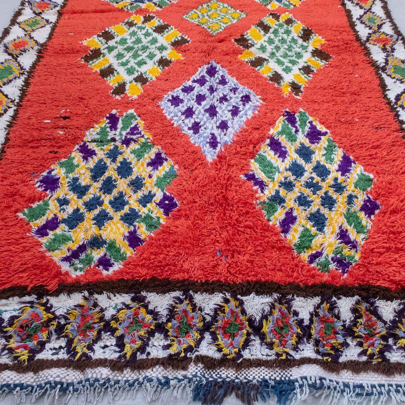 Red Boucherouite Rug